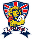 British Lion playing rugby Royalty Free Stock Image