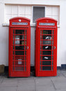 British London Phone Boxes Stock Images