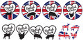 British meat stickers or badges or logos Royalty Free Stock Photo