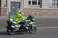 British motorcycle police Stock Images
