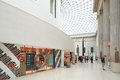 British Museum Great Court interior, book shop in London Royalty Free Stock Photo