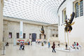 British Museum Great Court interior, people and tourists in London Royalty Free Stock Photo