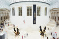 British Museum Great Court interior seen from above in London Royalty Free Stock Photo