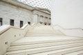 British Museum Great Court interior, white stairway in London Royalty Free Stock Photo