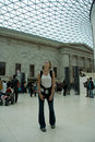 British Museum interior tourist in awe Royalty Free Stock Photos