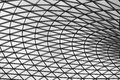 British museum roof the glass of the atrium of the london Stock Image