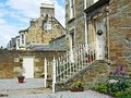 British old houses on summer day Stock Images