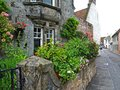 British old houses on summer day Royalty Free Stock Image