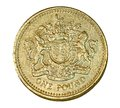 British one pound coin Royalty Free Stock Photo