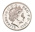 British 5p piece Royalty Free Stock Photo