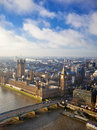 British parliament houses of and westminster bridge in london Stock Image
