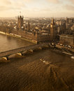 British parliament houses of and westminster bridge in london Royalty Free Stock Images