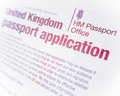 British Passport Form Royalty Free Stock Photo