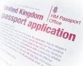 British Passport Form Royalty Free Stock Photo