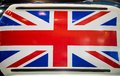 British patriotism shown on car roof board Royalty Free Stock Image