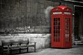 British phone booth in london united kingdom Stock Photography