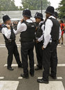 British police gathering at Notting Hill Carnival Royalty Free Stock Photography