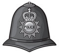 British police helmet bobby Royalty Free Stock Photos