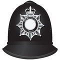 British police officers helmet a traditional authentic of metropolitan vector illustration Stock Images