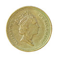 British pound coin on white Royalty Free Stock Photo