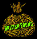 British pound indicates forex trading and coinage representing foreign exchange currencies Stock Photos