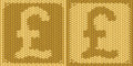 British pound sterling sign symbol on embroidery Royalty Free Stock Images