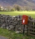 British red mail box Royalty Free Stock Photo