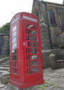 British Red Telephone Box Stock Photo