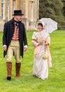 British Regency Period Attire, Worcestershire England. Royalty Free Stock Photo