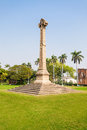 The british residency high cross sir henry lawrence memorial at complex in lucknow india Stock Photos