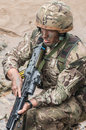 British Royal Marine Commando Royalty Free Stock Photo