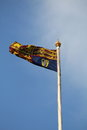 British royal standard flag on flagpole in london Royalty Free Stock Images