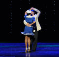 The british sailors dance retro dance the austria s world dance late on january brought by staged in jiangxi province arts center Stock Image