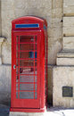 British style phone booth mdina malta Stock Photography