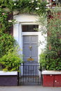 British style squared front door Royalty Free Stock Photo