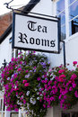 British tea rooms in a rural english village Stock Photos