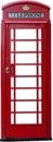 A British telephone box isolated