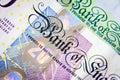 British Twenty Pound Note Close-UP Royalty Free Stock Photo