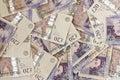British Twenty pound notes Royalty Free Stock Photo