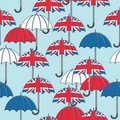 British umbrella pattern Stock Photo