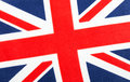 British Union jack flag. Red, white and blue.