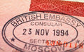 British visa stamp Royalty Free Stock Images