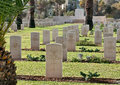 British war memorial cemetery in beer sheva burial of soldiers of the army since the mandate palestine Royalty Free Stock Photos
