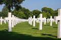 Brittany american cemetery and memorial headstones at Stock Photos