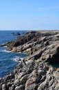 Brittany costal france on july and rocks Royalty Free Stock Photography