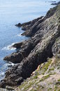 Brittany costal france on july and rocks Royalty Free Stock Photo