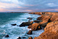 Brittany Dusk on the coast of Quiberon Seascape Royalty Free Stock Photo
