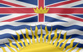 Brittiska columbia flagga Royaltyfria Foton