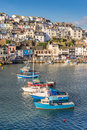 Brixham in south devon the fishing port of Stock Photo