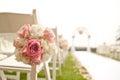 Bröllopceremoni i trädgård Royaltyfri Foto